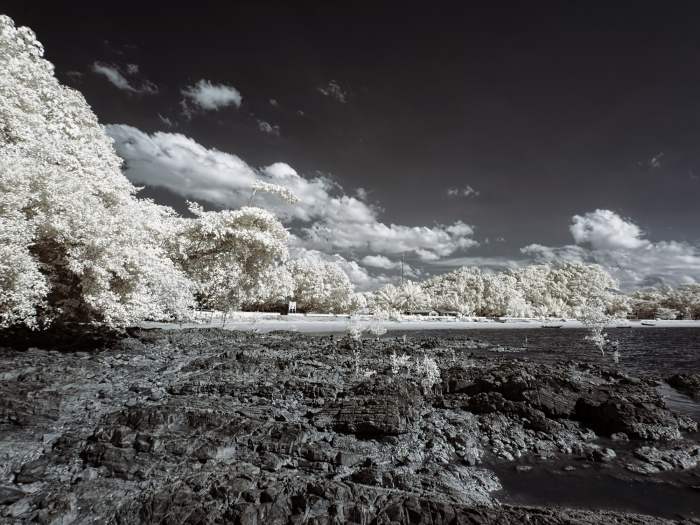 Pasir Panjang beach captured in infrared with B+W 092 695nm filter and full spectrum camera.