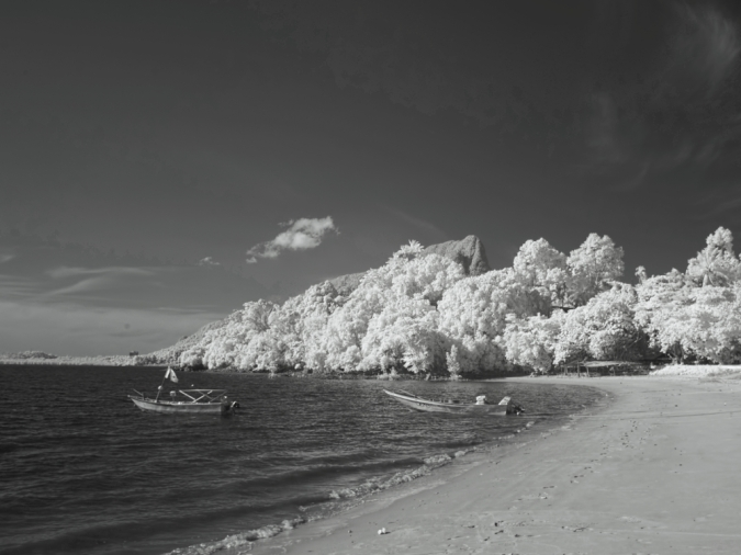 A infrared photo of Pasir Panjang beach. Capture with a Tiffen 87 760nm infrared filter attached on a Olympus E-PL5 full spectrum converted camera.