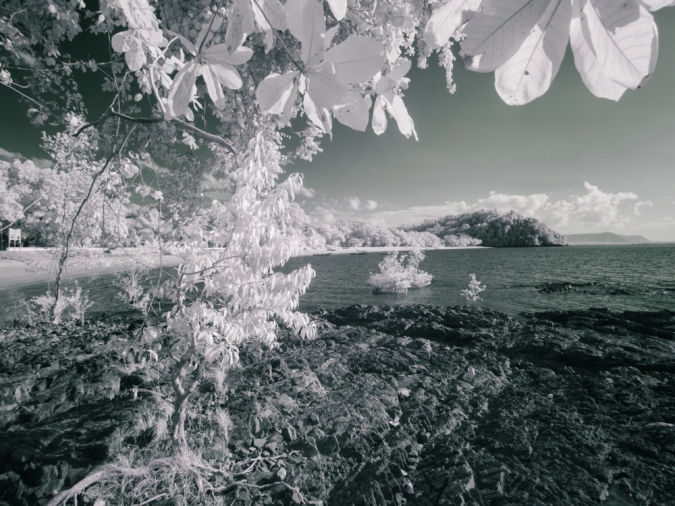 Pasir Panjang beach captured in infrared with Tiffen #87 filter.